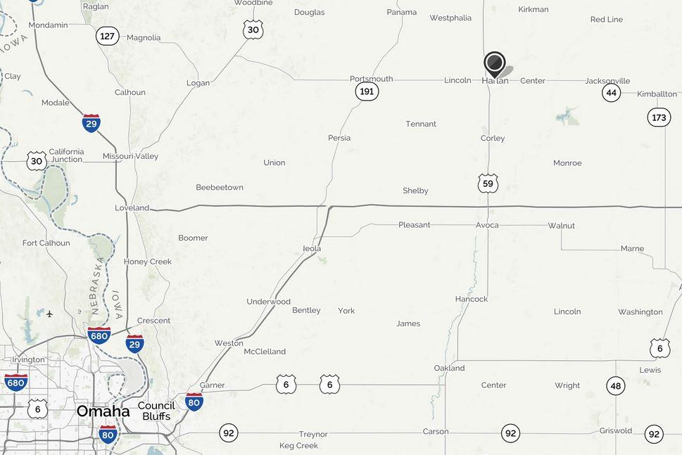 Avoca Iowa Map.Welcome To The City Of Harlan Harlan Iowa