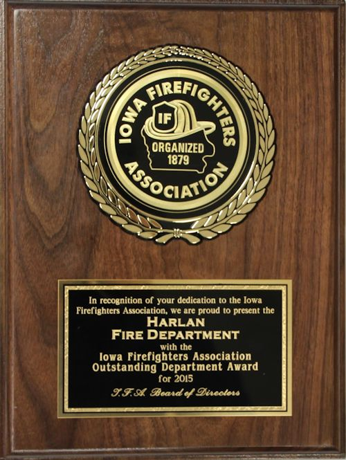 2016 Fire Department of Year Award